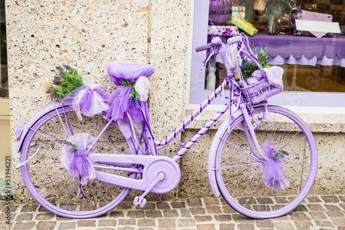 Foto op Plexiglas Lilac bycicle