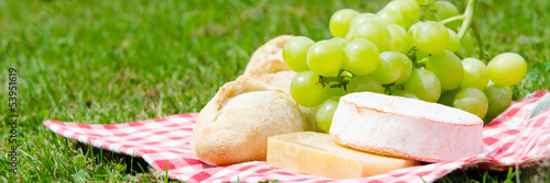 Keuken foto achterwand Picknick picknick in der wiese