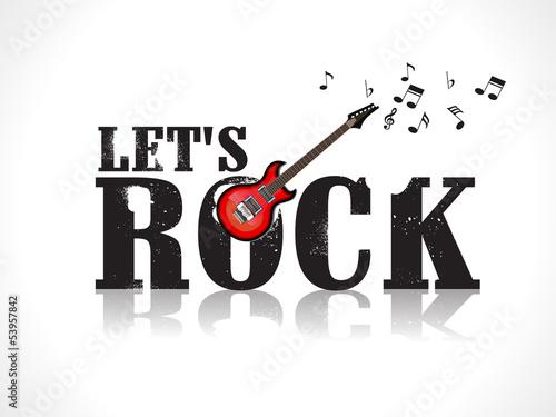 Plakat na zamówienie lets rock background with guitar
