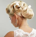 Beauty wedding hairstyle. Bride