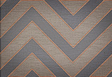 Classic brown abstract chevron pattern background canvas texture - 53964056