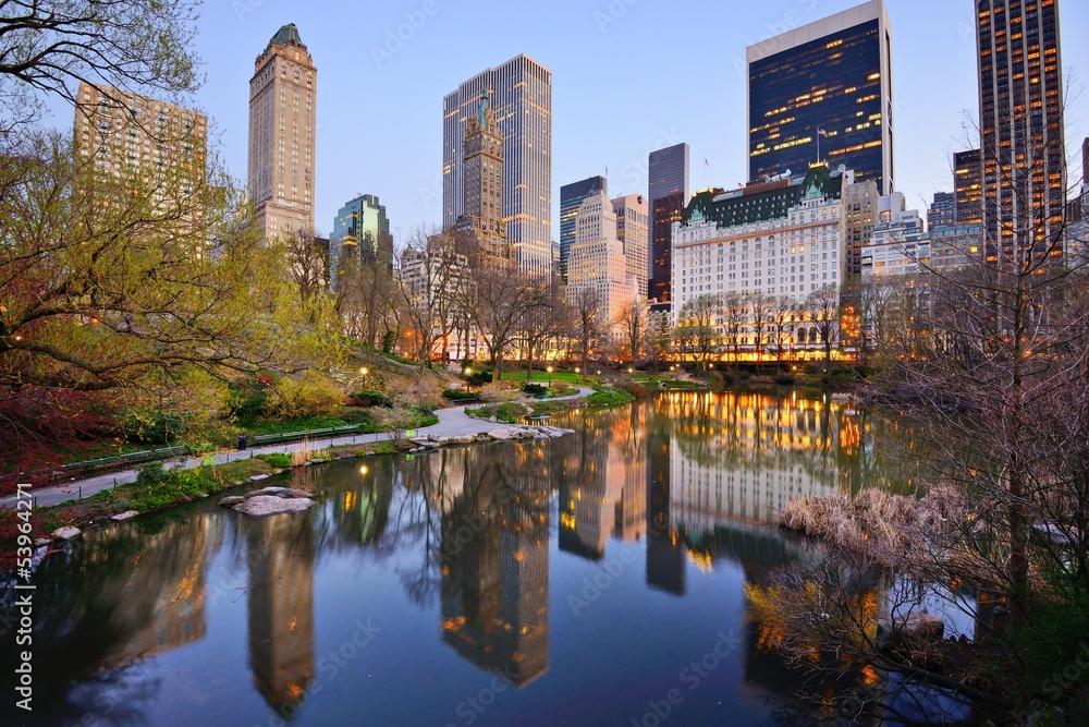 Fototapety, obrazy: New York City Central Park Lake