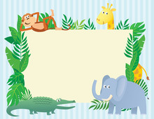 Animal Themed Illustration With Copy Space