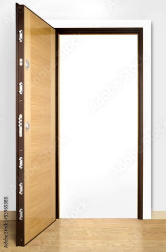 Fotografie, Obraz  Wooden doors with lock 18
