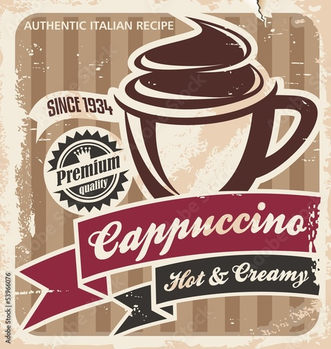 Vintage cappuccino poster
