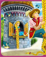 Obraz na płótnie Canvas Rapunzel - Prince or princess - castles