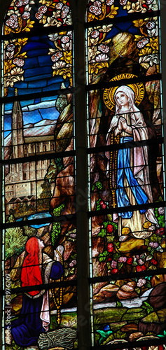 Photo  Our Lady of Lourdes - Stained Glass