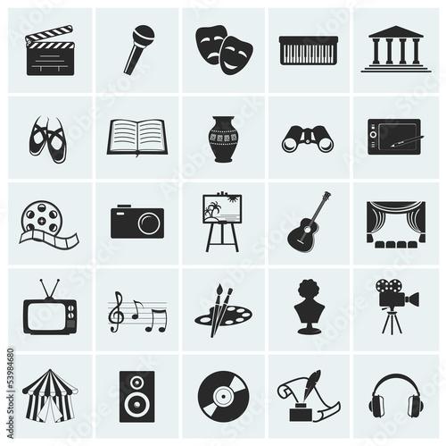 Fototapeta Collection of vector arts icons. obraz