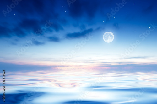 Fotobehang Volle maan Night sky with the moon