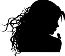 GIrl With A Butterfly Silhouette