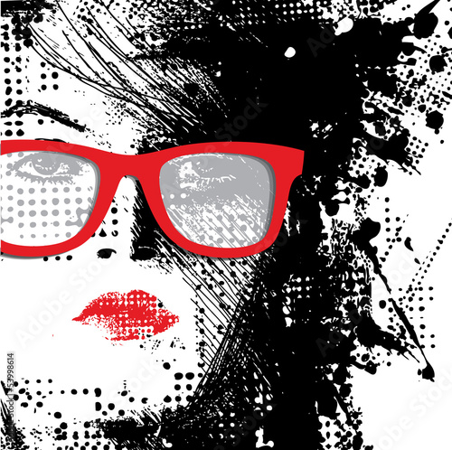 Cadres-photo bureau Visage de femme Women in sunglasses
