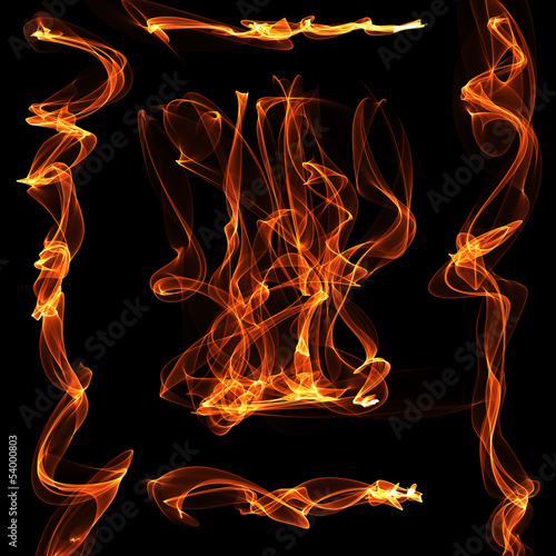 Fotografie, Obraz  Abstract flame