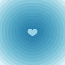 Concentric Background With Heart