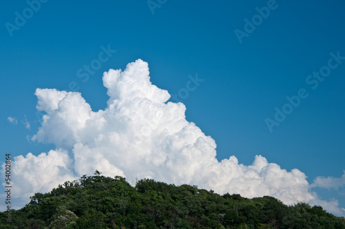 Fotografie, Obraz  里山と入道雲
