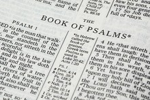 Holy Bible Opened On The Book Of Psalms