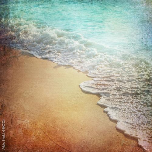 Fotografie, Obraz  Grunge Paper Beach Background