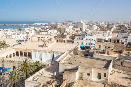 Photo sur Toile Tunisie old houses in medina in Sousse, Tunisia