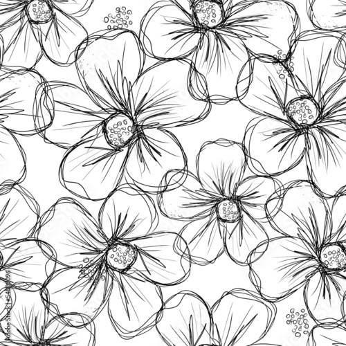 Wall mural - Floral seamless background for your design