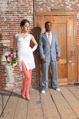 Vintage Fashion Wedding In Old Urban Building M
