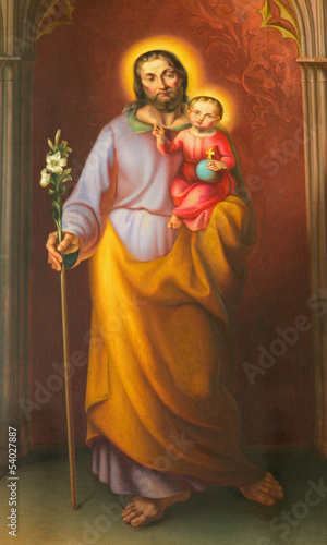 Vienna - Paint of Saint Joseph from  Maria am Gestade