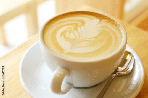 Fotografie, Obraz  Cup of art latte or cappuccino coffee