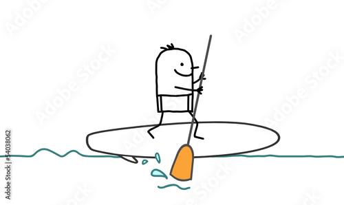 Fotografie, Obraz  man & stand up paddle