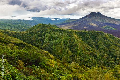 Fototapety, obrazy: Landscape of Batur volcano on Bali island, Indonesia