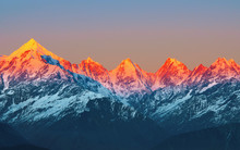 "Sunset On Mountain Peaks ""panc..."