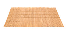 Bamboo Straw Serving Mat Isolated