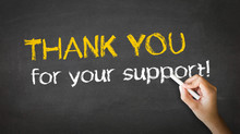 Thank You For Your Support Cha...