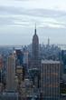 Manhattan view from Rockefeller Center, New York, USA