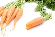 Orange Carrots With Leaves Iso...