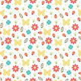 Nature themed seamless pattern