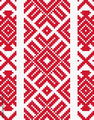 obraz PCV Etniczne słowiańskie szwu # 9
