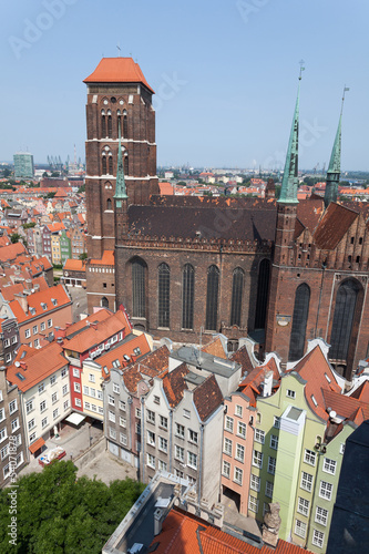 Fototapety, obrazy: Cathedral in old town of Gdansk, Poland