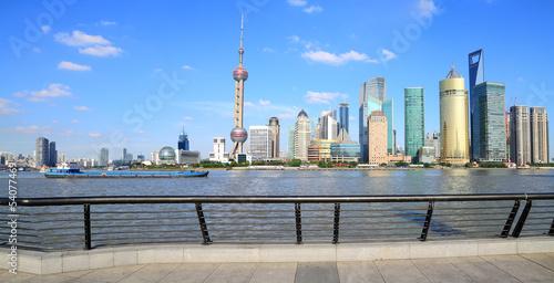 Shanghai landmark skyline Poster
