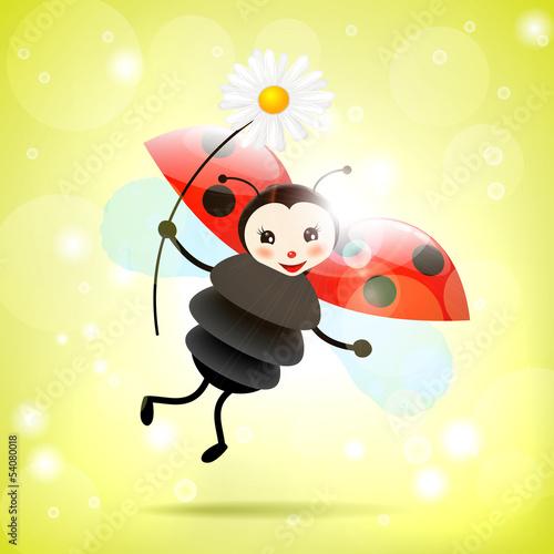 Recess Fitting Ladybugs Ladybug with daisy