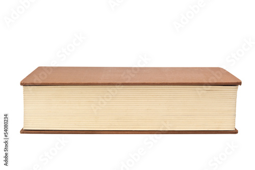 Closeup of the fore edge of a book isolated on white Fototapeta