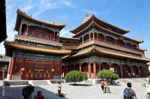 Deurstickers Peking Beijing, Lama Temple - Yonghe Gong Dajie