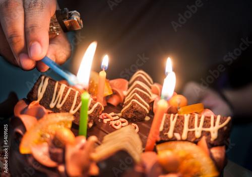 Light Up Birthday Cake