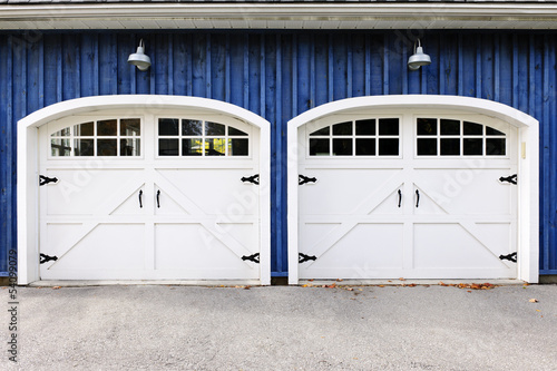 Double Garage Doors Buy This Stock Photo And Explore Similar