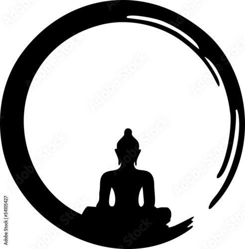 Fotografia  Enso Zen, Meditation, Buddha