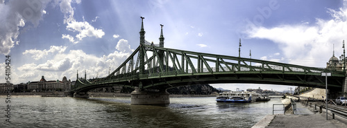 Liberty bridge in Budapest Hungary
