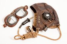 WW2 RAF Flying Helmet & Goggles