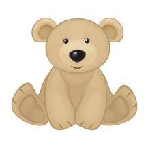 Vector Of Cute Bear Isolated.