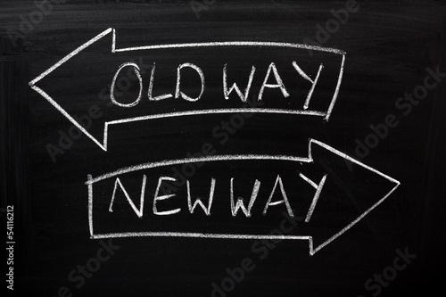 Fotografía  Old Way, New Way