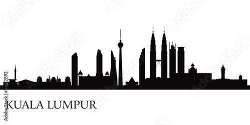 Kuala Lumpur city skyline Poster