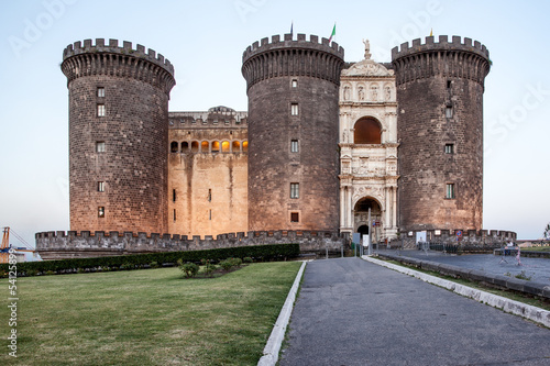 In de dag Napels Naples Castello Maschio Angioino