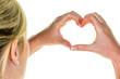 canvas print picture - Hände formen ein Herz