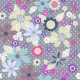 cute floral cutouts seamless repeat